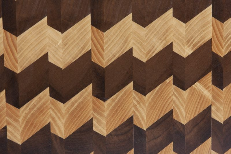 Escher 3d End Grain Cutting Board Ash Walnut Solid Wood Serving Board Boaz Woodwork
